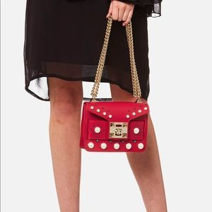 Salar Milano Bags - Salar Mila Pearl Bag Red - crossbody or shoulder